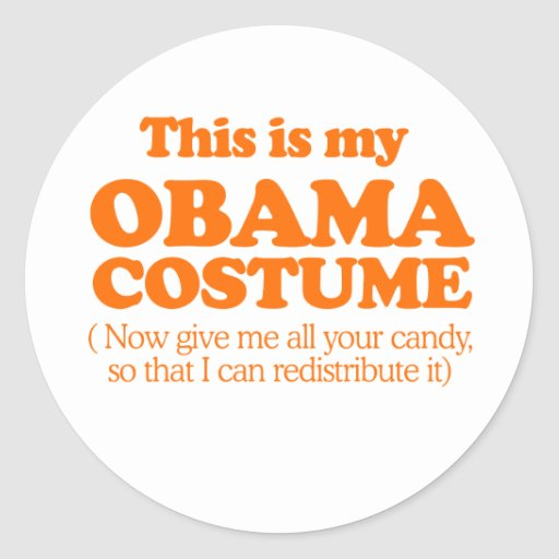 This is my Obama Costume Sticker