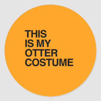 THIS IS MY OTTER HALLOWEEN COSTUME - Halloween - p Stickers
