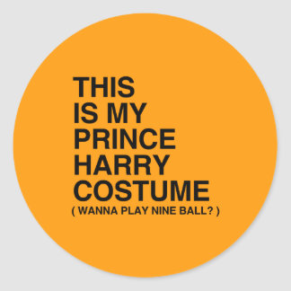 THIS IS MY PRINCE HARRY COSTUME - Halloween - png Round Stickers
