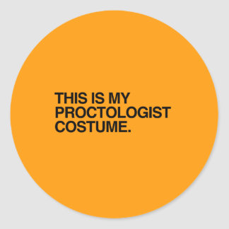 THIS IS MY PROCTOLOGIST COSTUME - Halloween - png Stickers