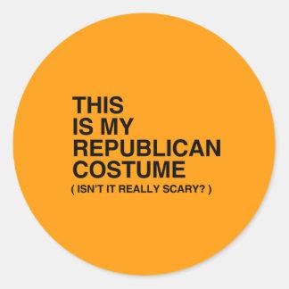 THIS IS MY REPUBLICAN HALLOWEEN COSTUME - Hallowee Round Sticker