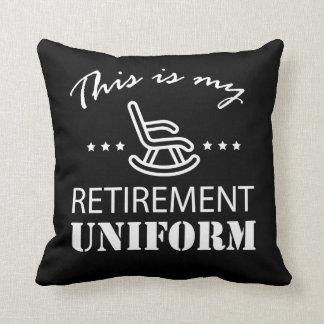 This Is My Retirement Uniform Retirement Throw Pillow
