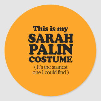 THIS IS MY SARAH PALIN COSTUME - Halloween - png Round Stickers