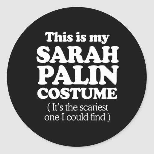 THIS IS MY SARAH PALIN COSTUME STICKERS