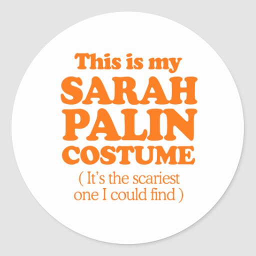 THIS IS MY SARAH PALIN COSTUME STICKER