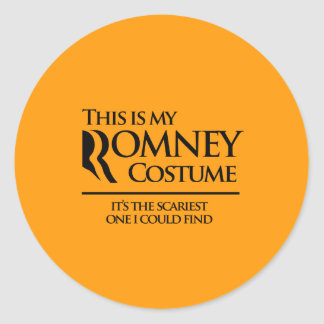 THIS IS MY SCARY ROMNEY COSTUME - Halloween - png Sticker