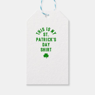 THIS IS MY ST. PATRICK'S DAY SHIRT G GIFT TAGS