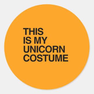 THIS IS MY UNICORN HALLOWEEN COSTUME - Halloween - Stickers