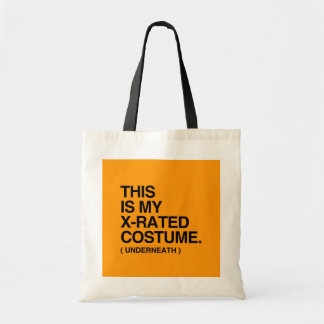 THIS IS MY X-RATED COSTUME - Halloween - png Tote Bags