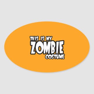 THIS IS MY ZOMBIE COSTUME - - Halloween - png Sticker
