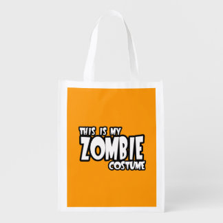 THIS IS MY ZOMBIE COSTUME - - Halloween - png Market Tote
