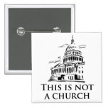 this is not a church 2 inch square button