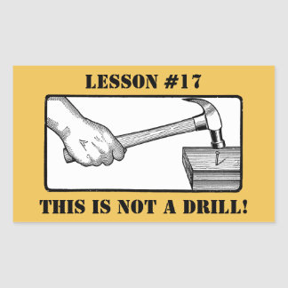 This Is Not a Drill - Hand, Hammer, Nail