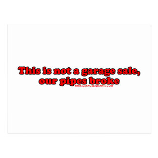This Is Not A Garage Sale T Post Card