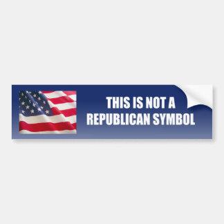 This is not a republican symbol bumper sticker