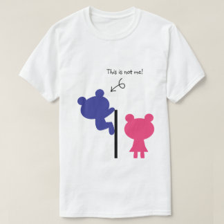This Is Not Me Bear Peeping Tom Funny Tshirt