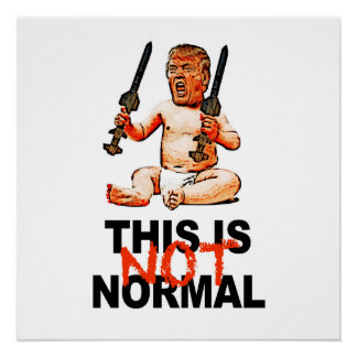 This is NOT normal! Protest Sign