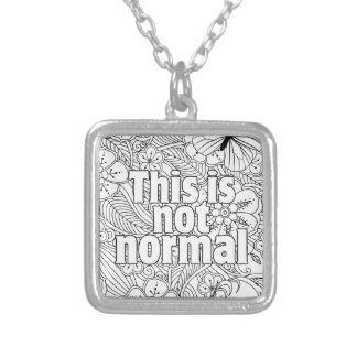 this is not normal silver plated necklace