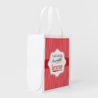 This Is One Really Incredible Secretary Gift Reusable Grocery Bag