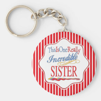 This Is One Really Incredible Sister Gift Basic Round Button Keychain