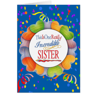 This Is One Really Incredible Sister Gift Card