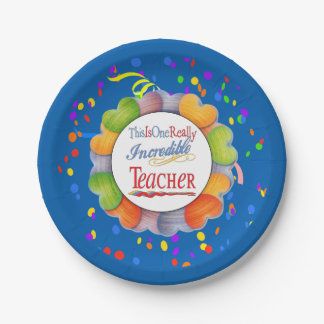 This Is One Really Incredible Teacher Gift Paper Plate