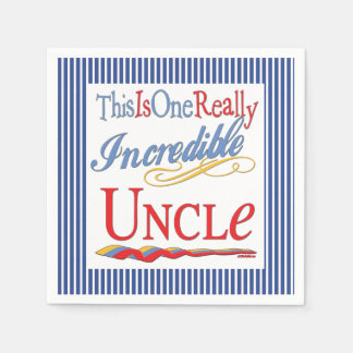 This Is One Really Incredible Uncle Gift Paper Napkin
