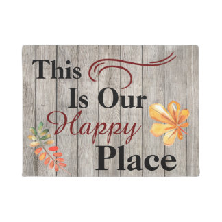This Is Our Happy Place Front Door Mat