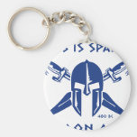This is Sparta - Molon Lave - Blue Key Chains