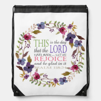 This is the Day that the Lord Hath Made Drawstring Bag