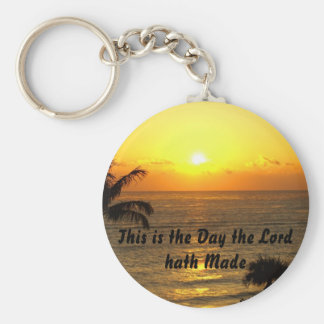 This is the Day the Lord hath Made Basic Round Button Keychain