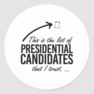 This is the list of candidates I trust - -  Round Sticker