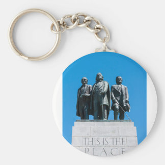 """This is the Place"" Monument - Utah Basic Round Button Keychain"