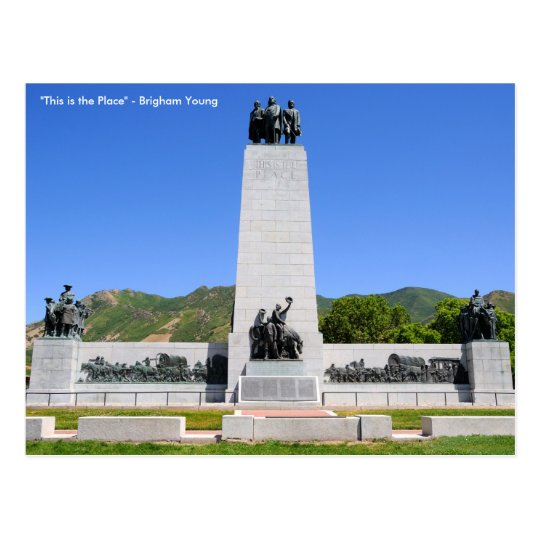 """This is the Place"" Monument - Utah Postcard"