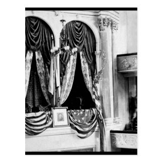 This is the private box in Ford's Theatre, Washing Postcard