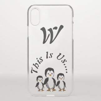 This is Us Penguin Threesome Personalized iPhone X Case
