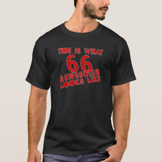 This Is What 66 & Awesome Look s Like T-Shirt