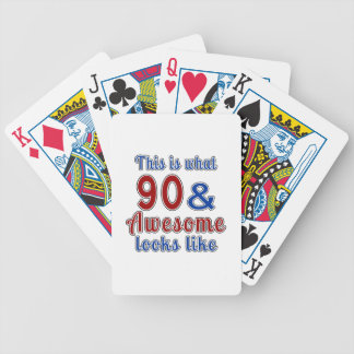 This is what 90 and awesome look like bicycle playing cards