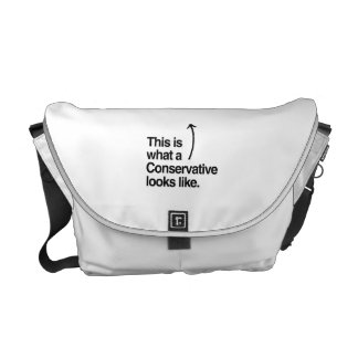 THIS IS WHAT A CONSERVATIVE LOOKS LIKE.png Courier Bags