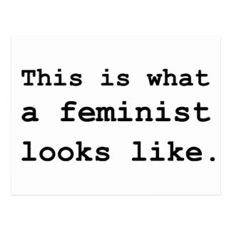 This is what a feminist looks like. postcard