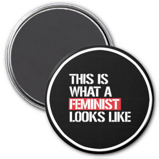 This is what a Feminist looks like --  white - Magnet
