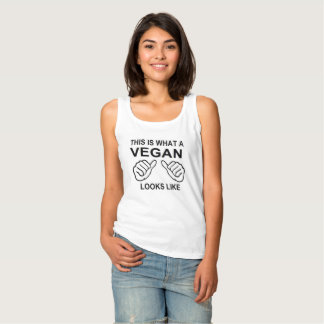 This Is What A Vegan Looks Like humor Funny Tank Top