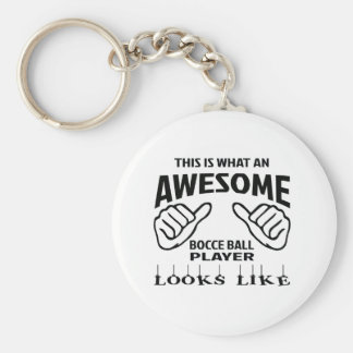 This is what an awesome Bocce ball player looks li Basic Round Button Keychain