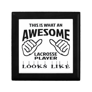 This is what an awesome Lacrosse player looks like Gift Box