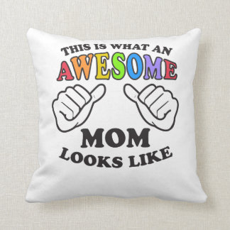 This Is What An Awesome Lesbian Mom Looks Like Throw Pillow