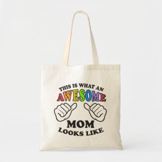 This Is What An Awesome Lesbian Mom Looks Like Tote Bag