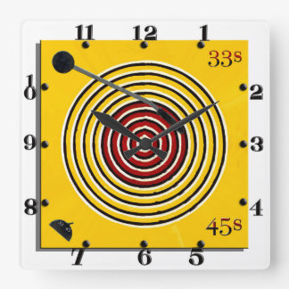 This Is What Made Me Square Wall Clock