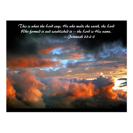 This is what the Lord says, he who made the earth, Postcard