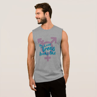 This is what trans looks like - Trans Symbol - - . Sleeveless Shirt