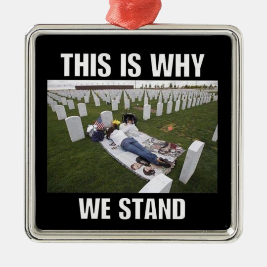 THIS IS WHY WE STAND METAL ORNAMENT